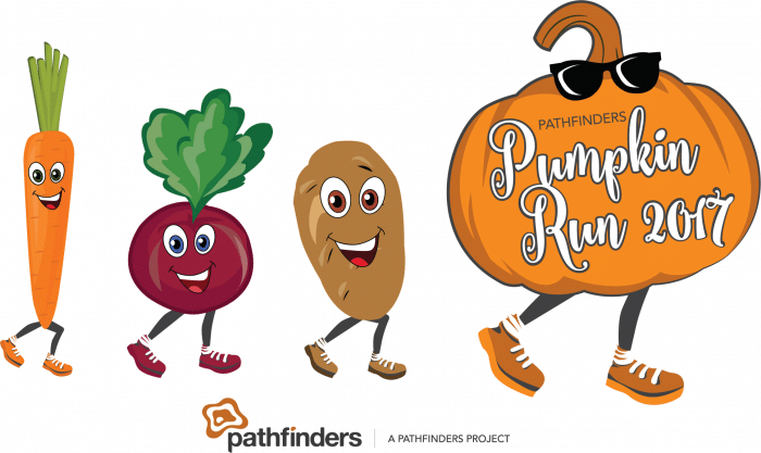 pumpkin run 2017 logo with sunnies